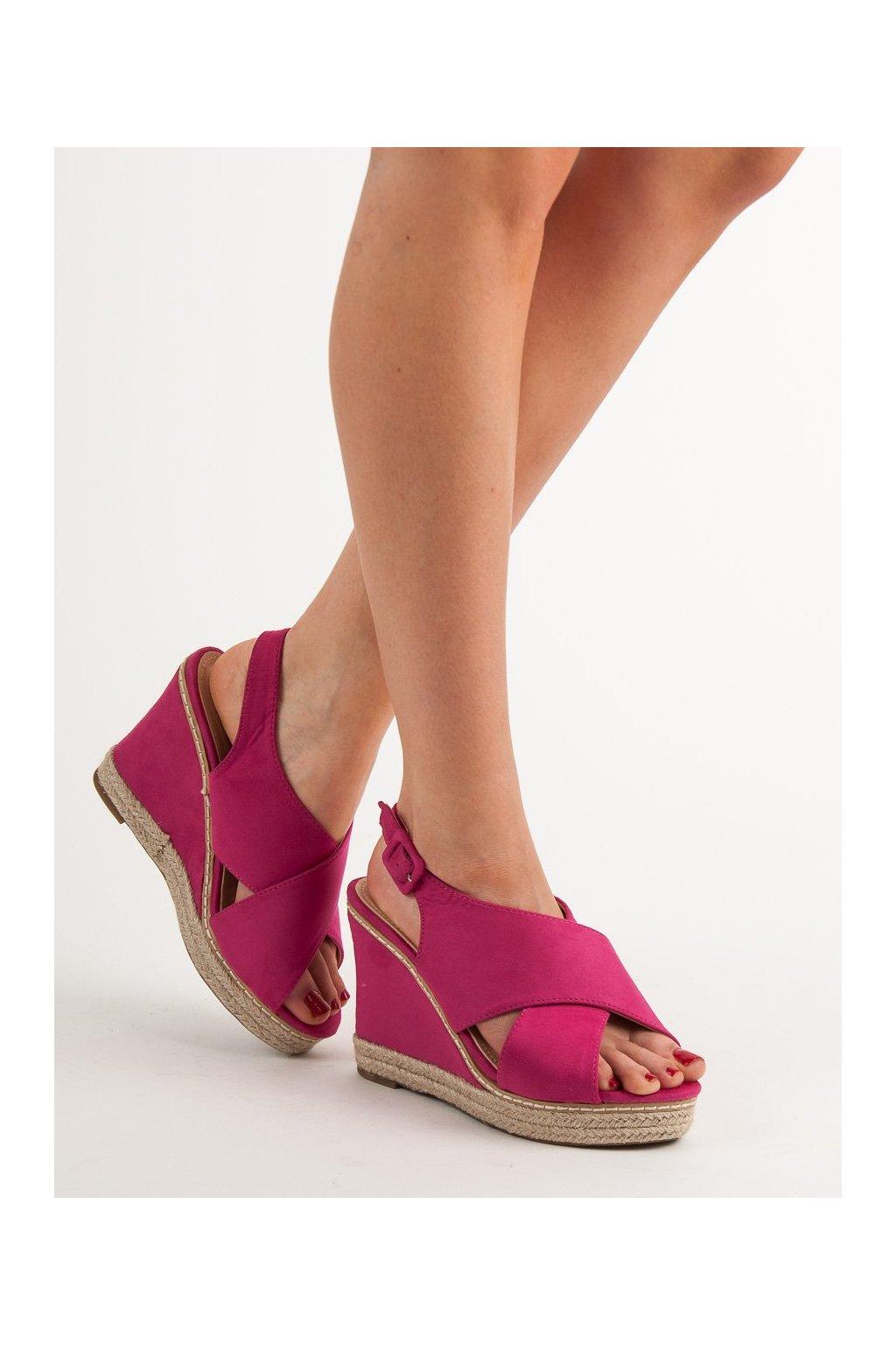 Ružové sandále na platforme Anesia paris kod 66-368FU