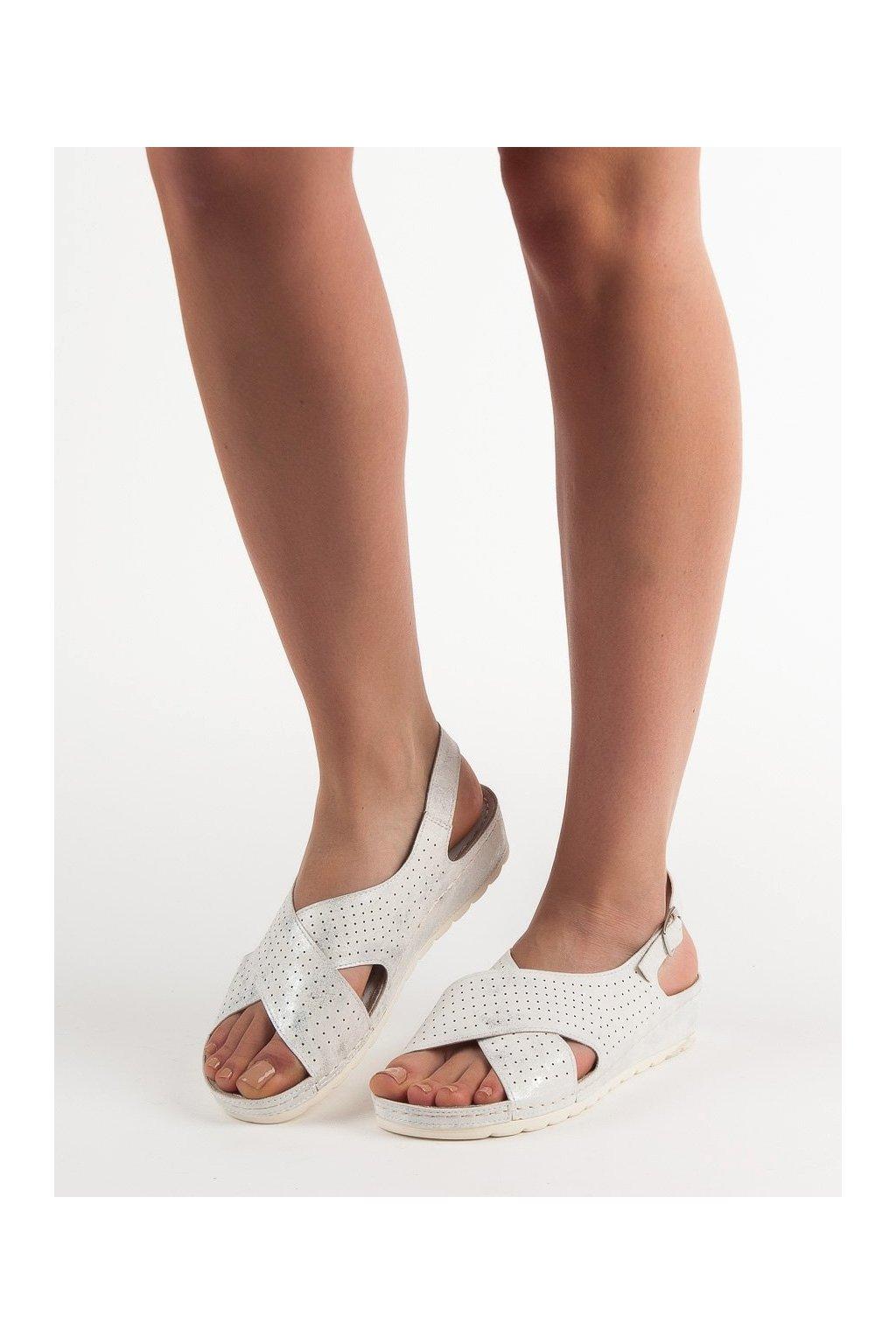 Biele sandále na platforme Goodin kod GD-FL269W