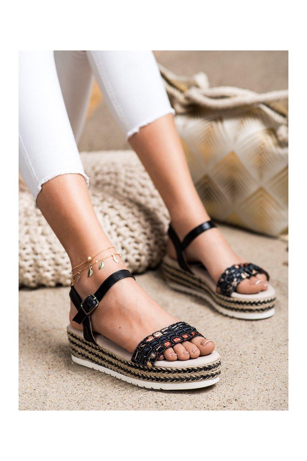Čierne sandále Shelovet kod B119-09-02NE