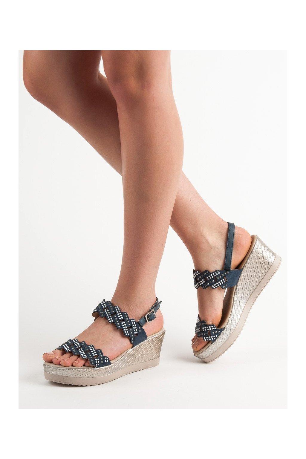 Modré sandále Aclys kod A119-04-01N