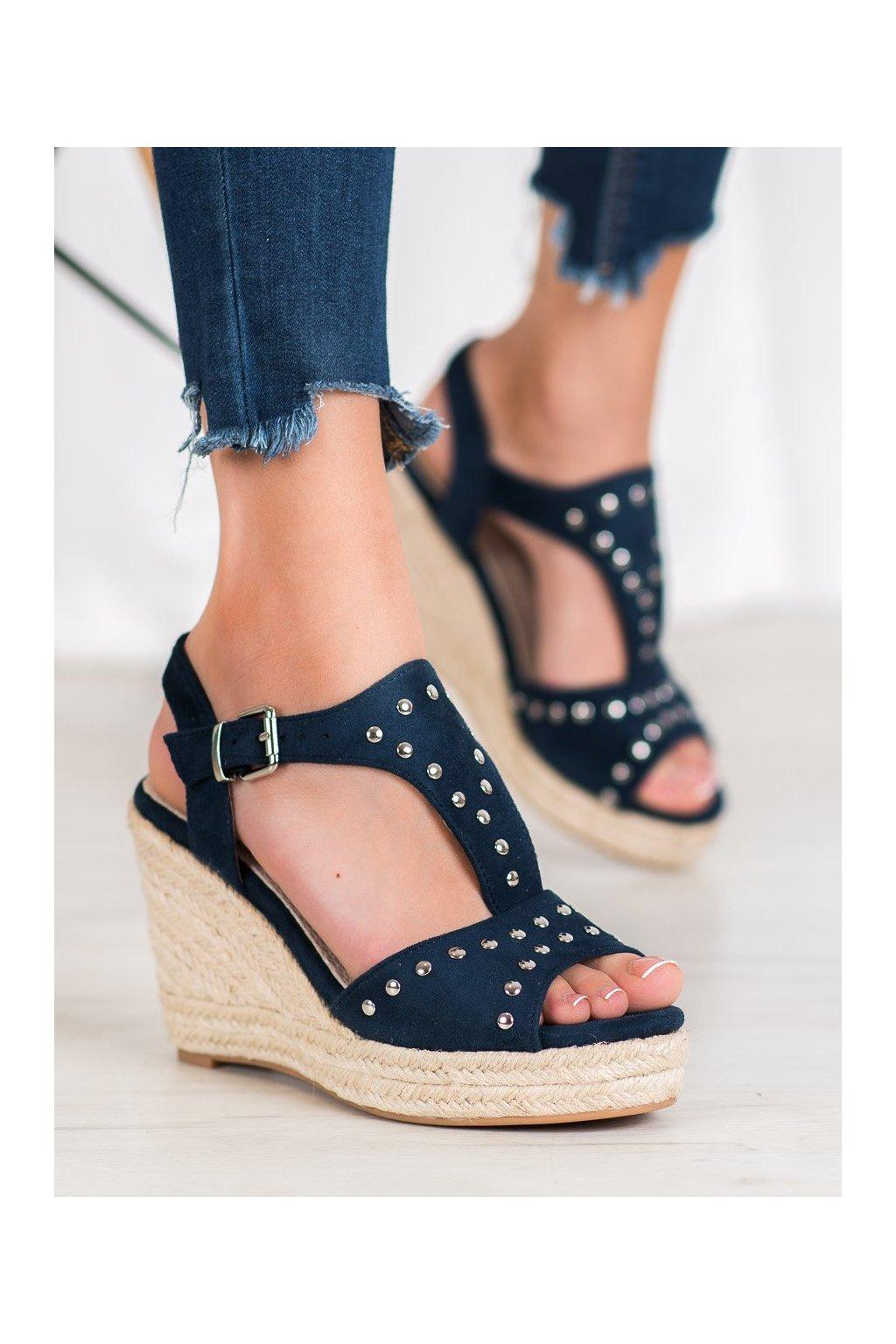 Modré sandále na platforme Kylie kod K1952001MA