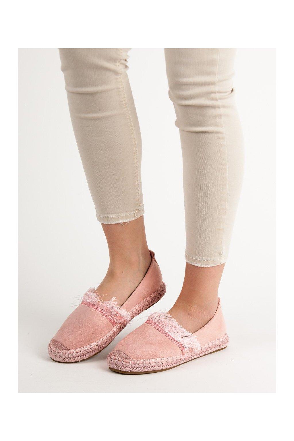 Ružové dámske balerínky Lily shoes kod 7262-20P