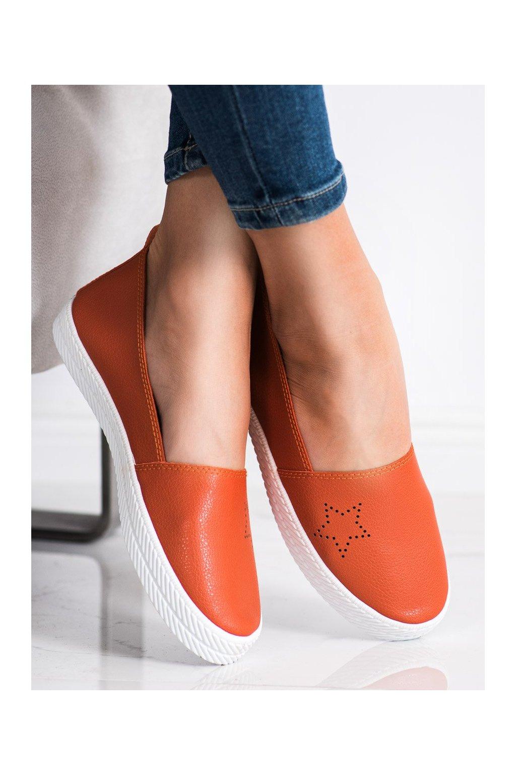 Oranžové dámske tenisky Kylie kod K1832303NA
