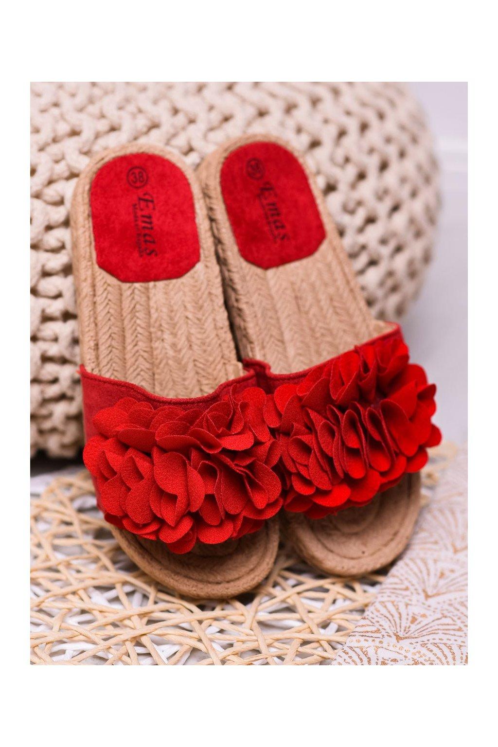 Červené šľapky - Shelovet kod E3301R