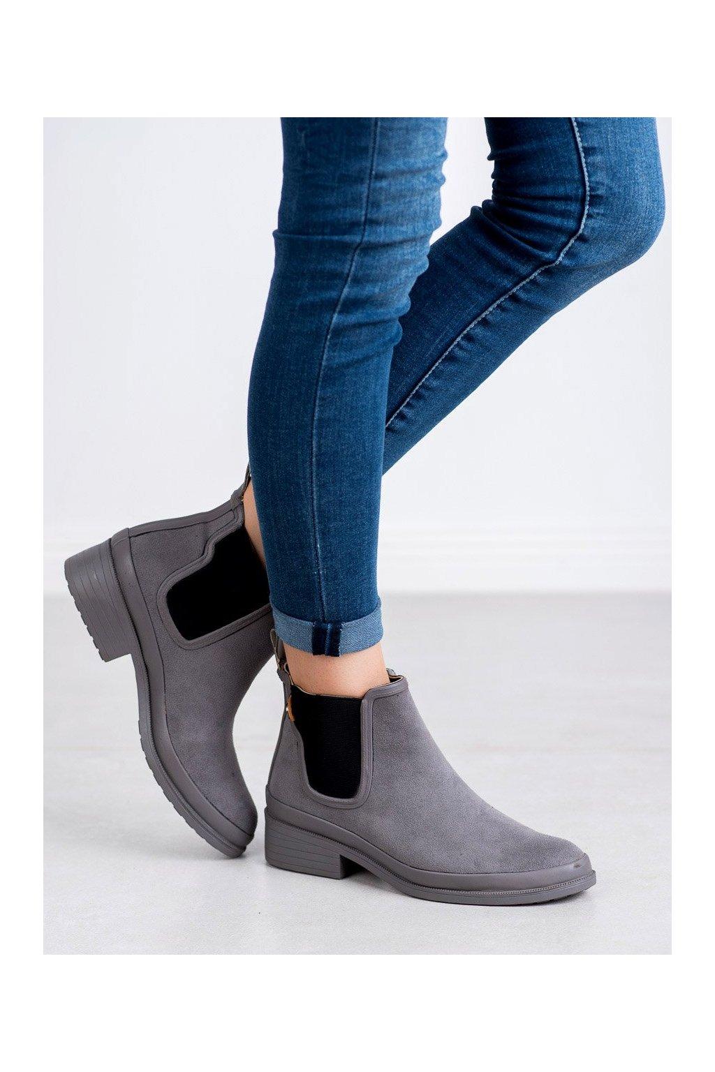 Sivé dámske topánky Kylie kod K1871201G