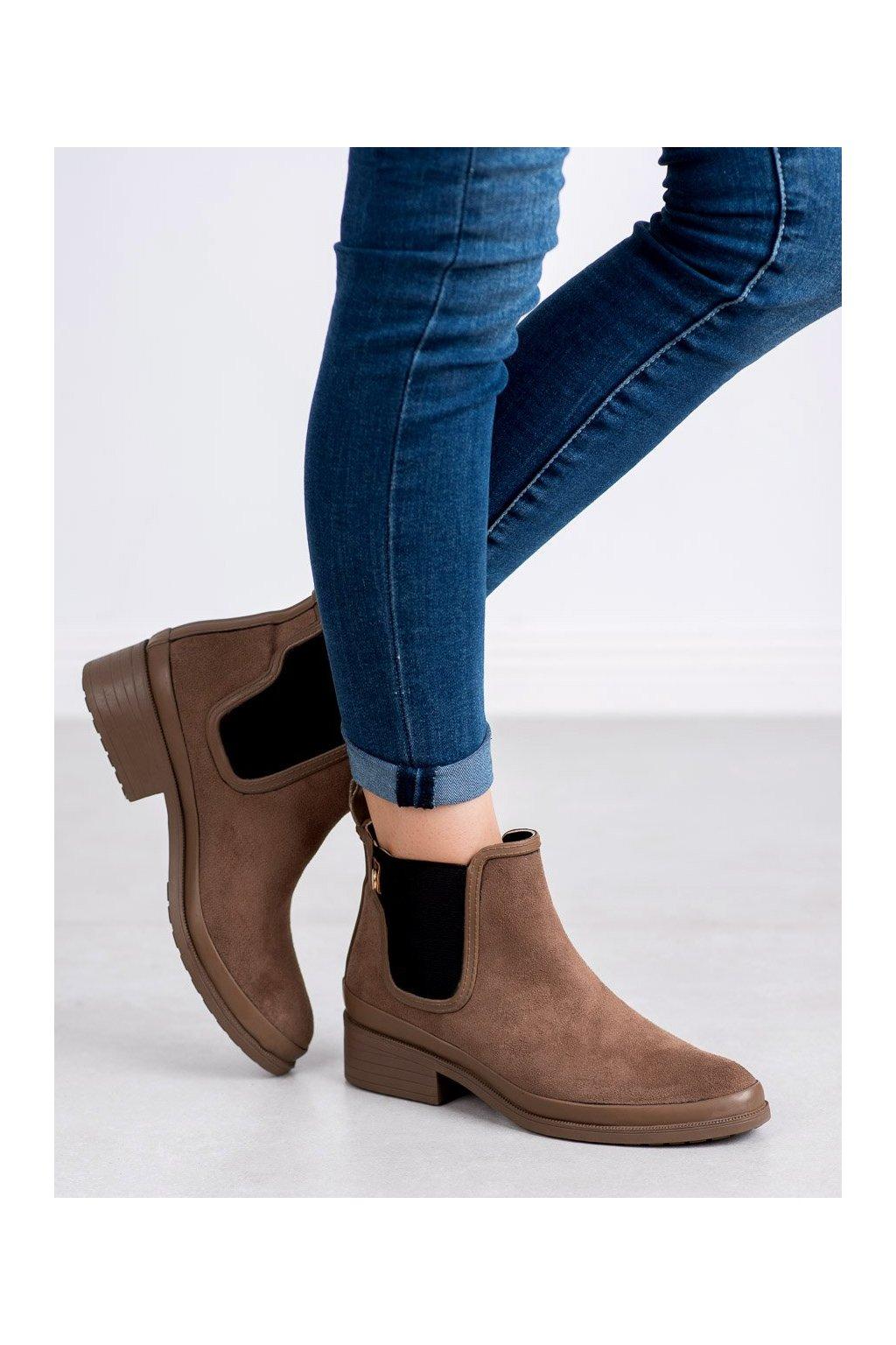 Hnedé dámske topánky Kylie kod K1871201TA