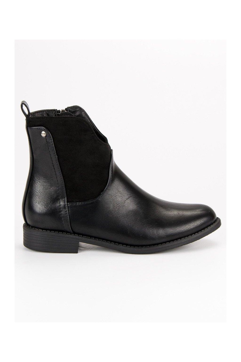 Dámske topánky na jeseň čierne Filippo DBT302/18B