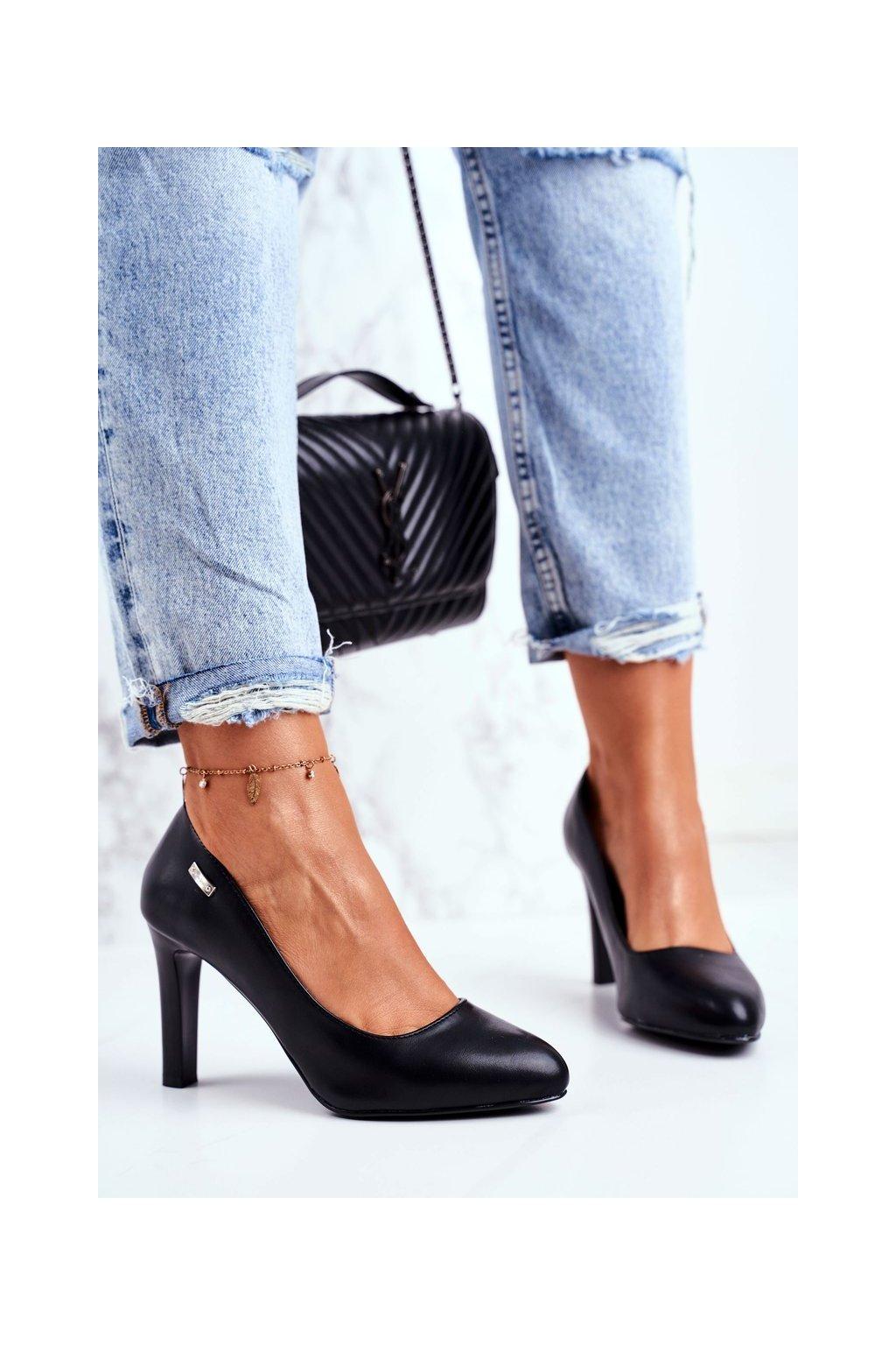Dámske lodičky farba čierna kód obuvi 1457 BLK MAT