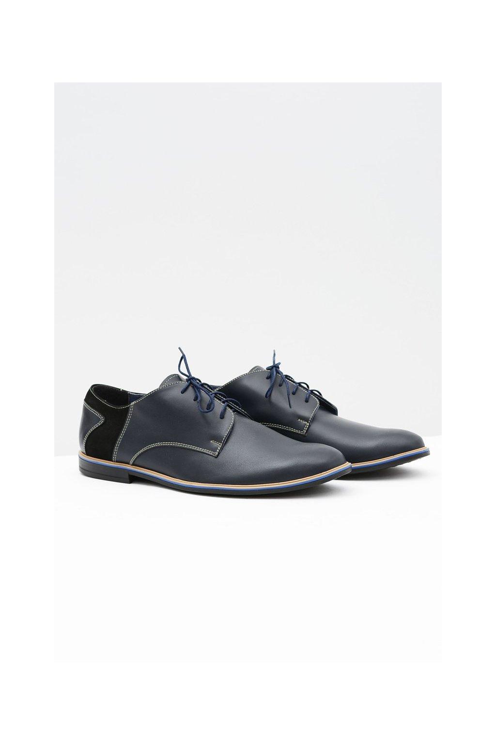 Pánske poltopánky farba modrá kód obuvi 411 NAVY