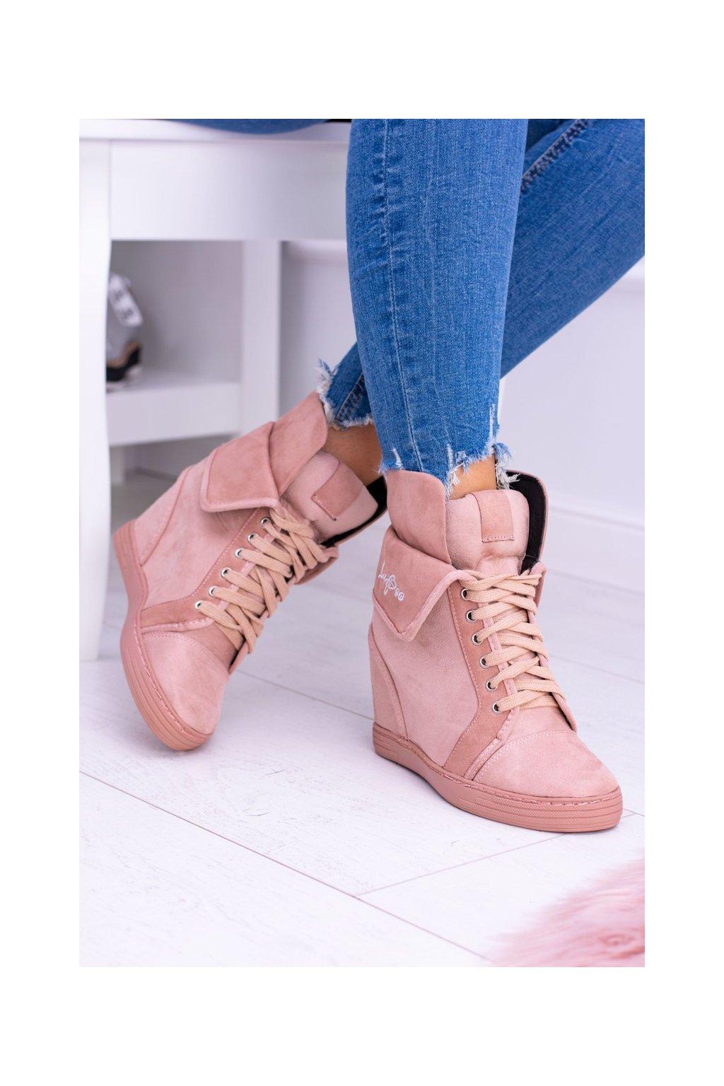 Dámska obuv Sneakers Lu Boo semišové ružové Vanilla