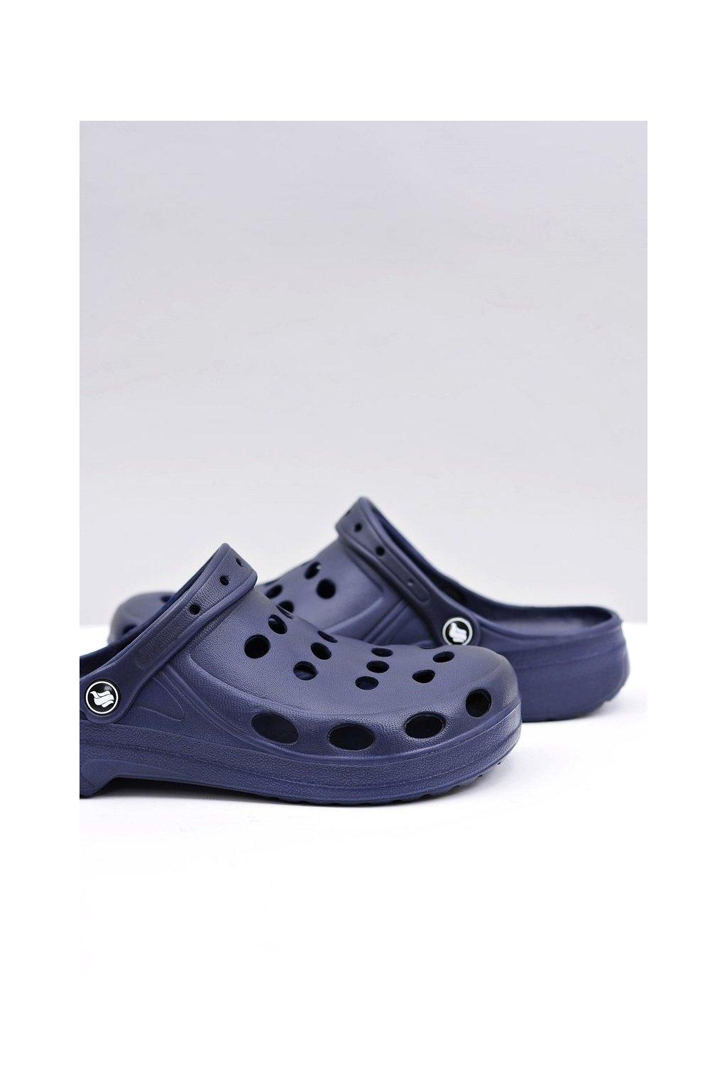 Pánske šľapky farba modrá kód obuvi A-001 NAVY