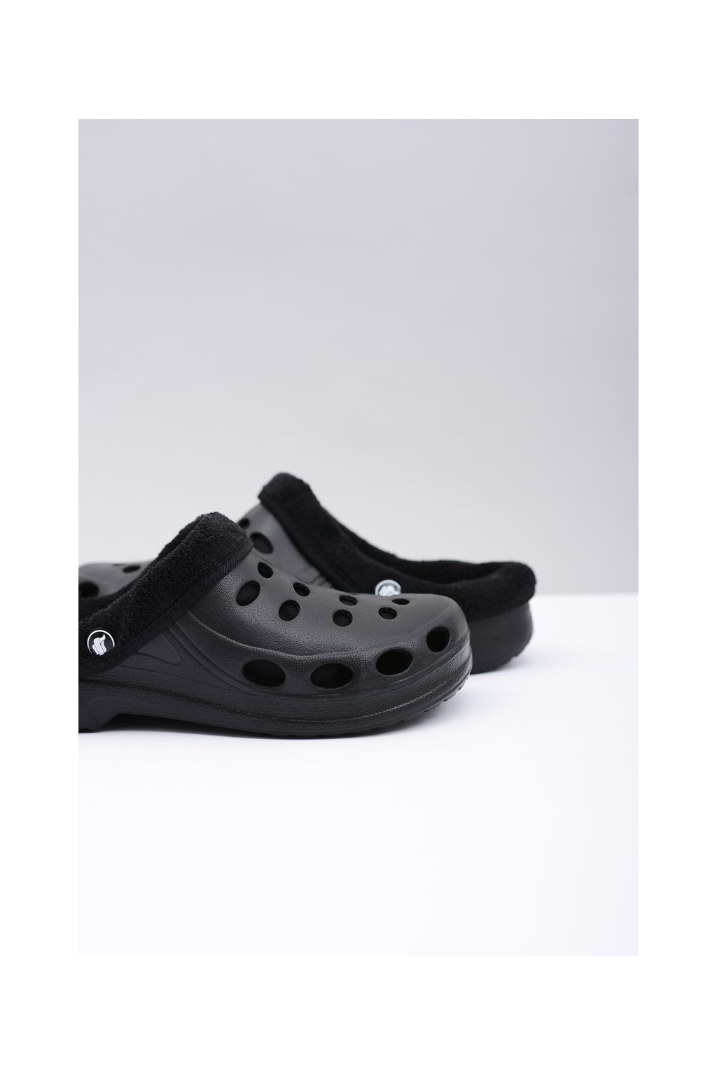 pánske Klasické šľapky Sandále Teplé čierne Crocsy EVA