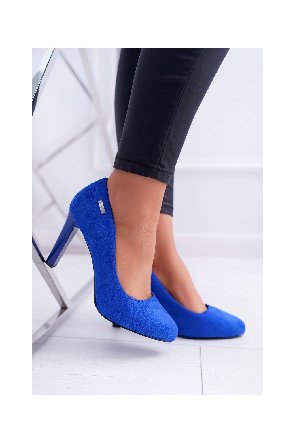 Dámske lodičky farba modrá kód obuvi 1457 INDIGO MIC