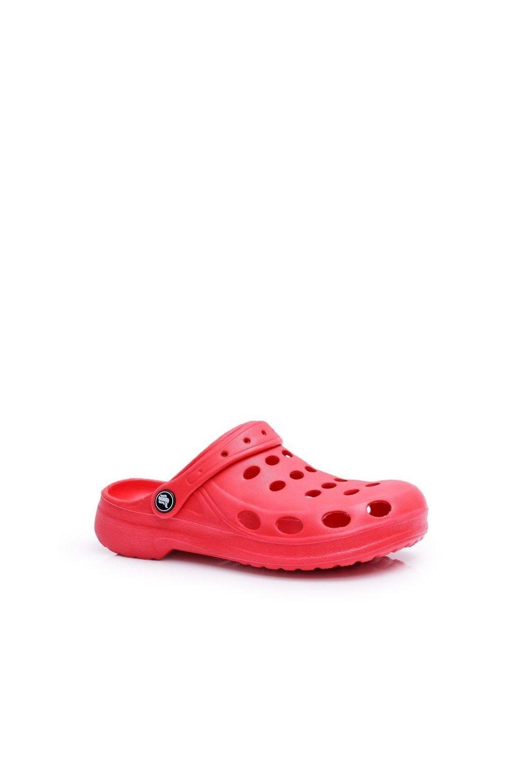 Dámske šľapky farba červená kód obuvi A-002 RED