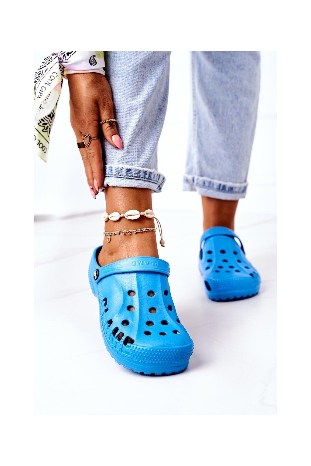 Dámske šľapky farba modrá kód obuvi B-2008 BLUE