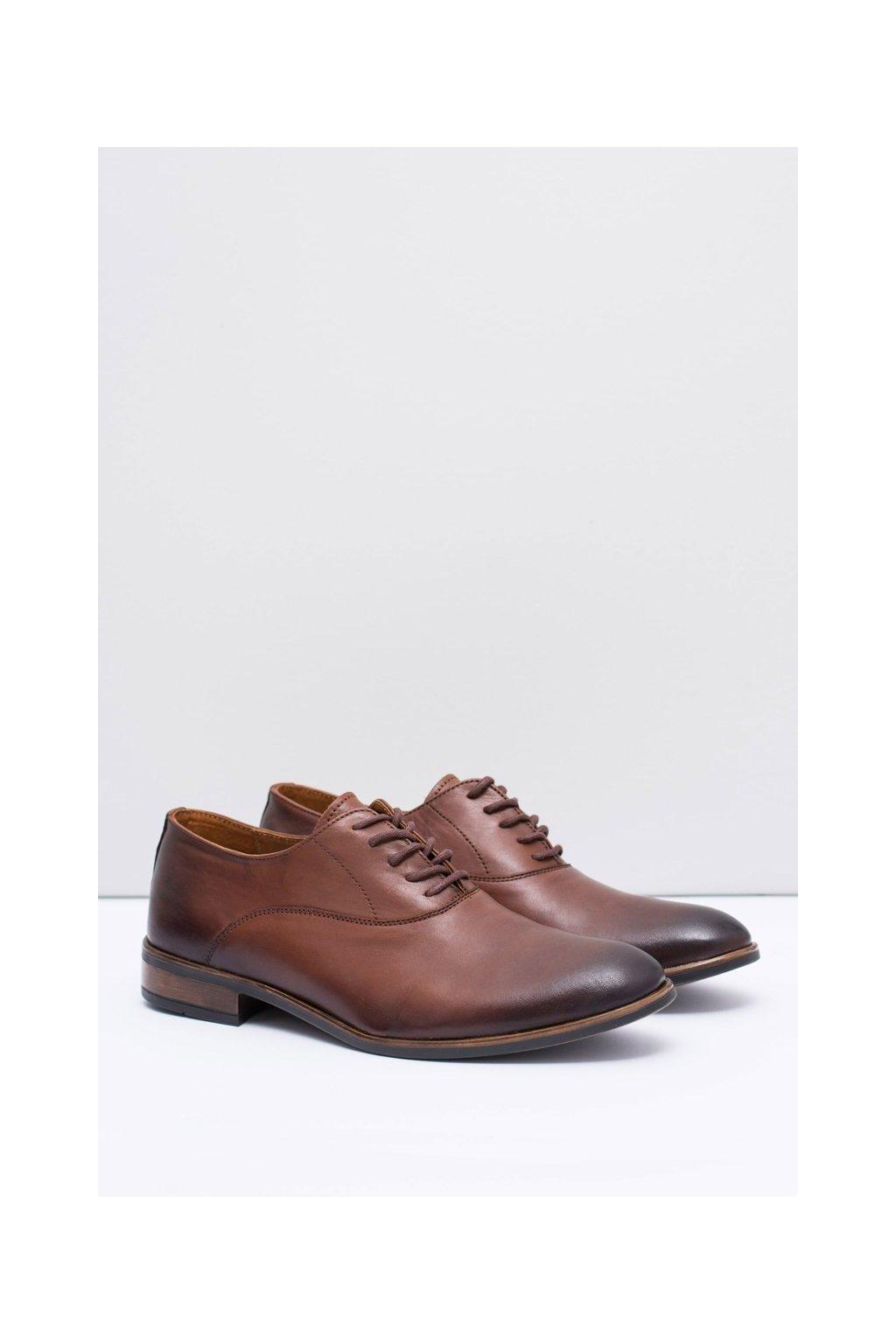 Pánske poltopánky farba hnedá kód obuvi 282 BROWN