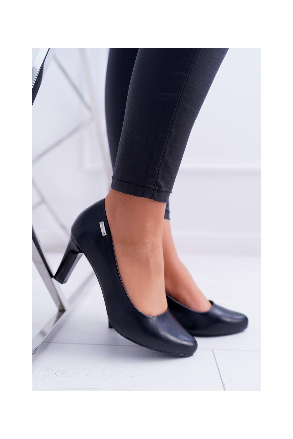 Dámske lodičky farba čierna kód obuvi 1459 BLK MAT
