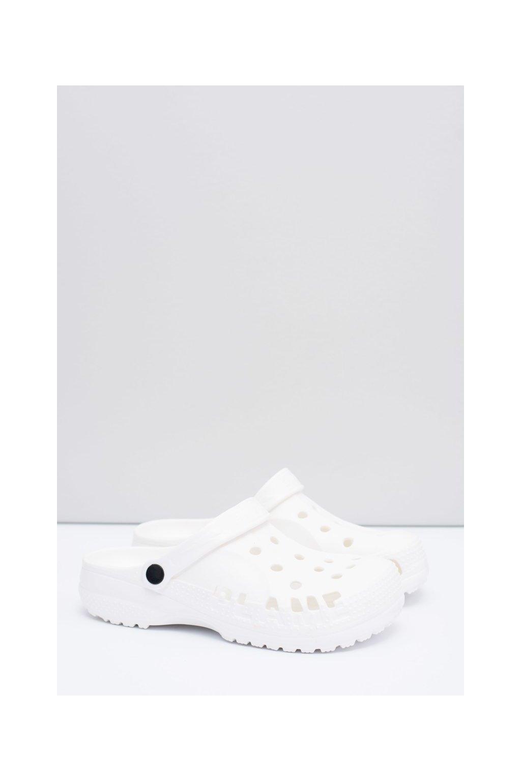 Pánske šľapky farba biela kód obuvi A-7008 WHITE