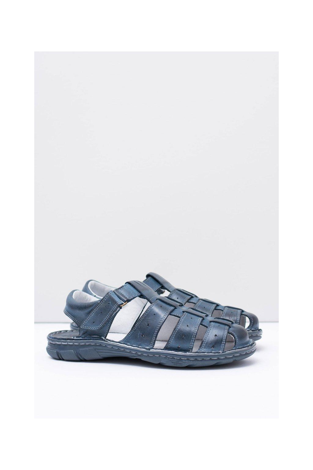 Pánske kožené námornícke sandále