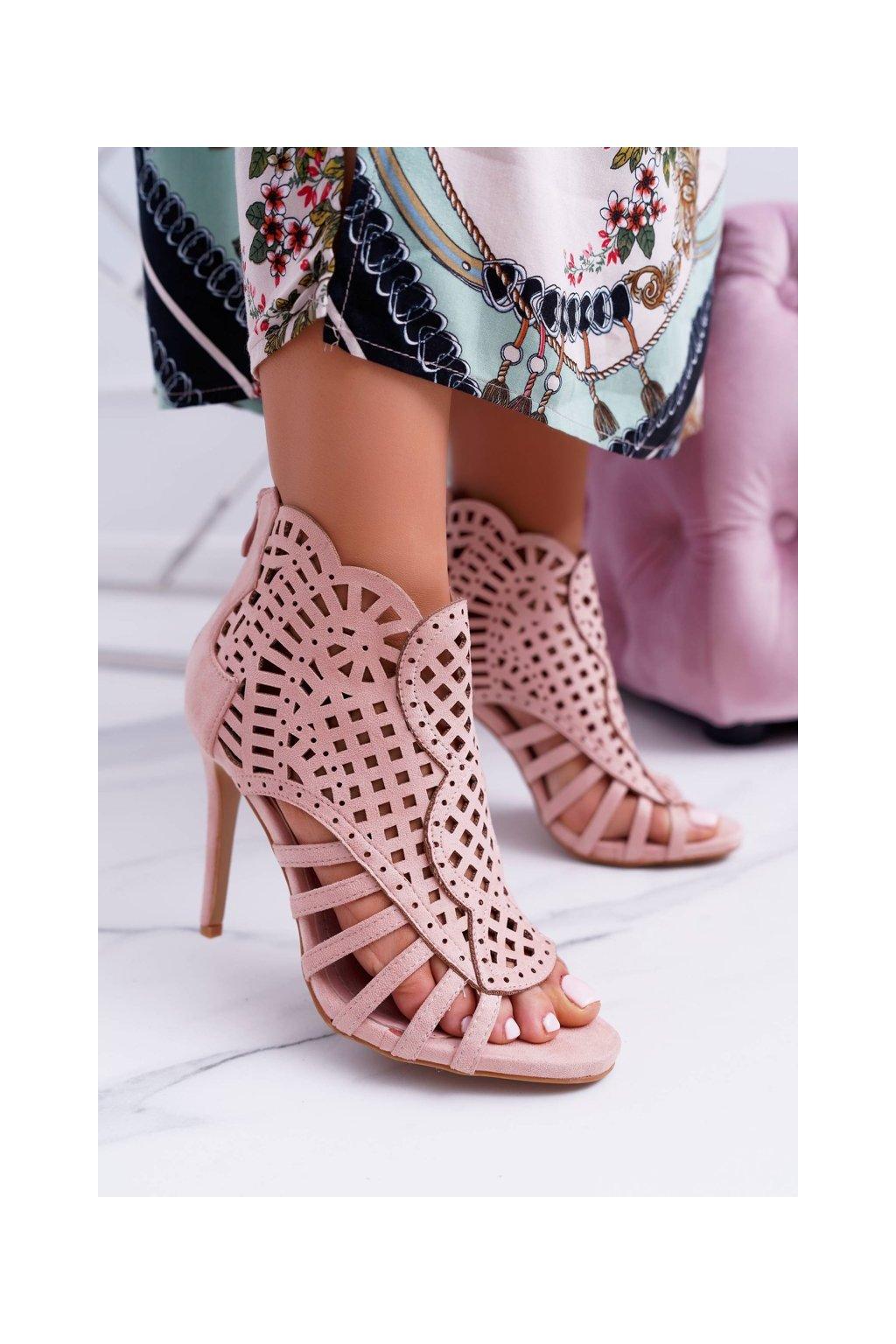 Dámske semišové Sandále na vysokom podpatku Viviane