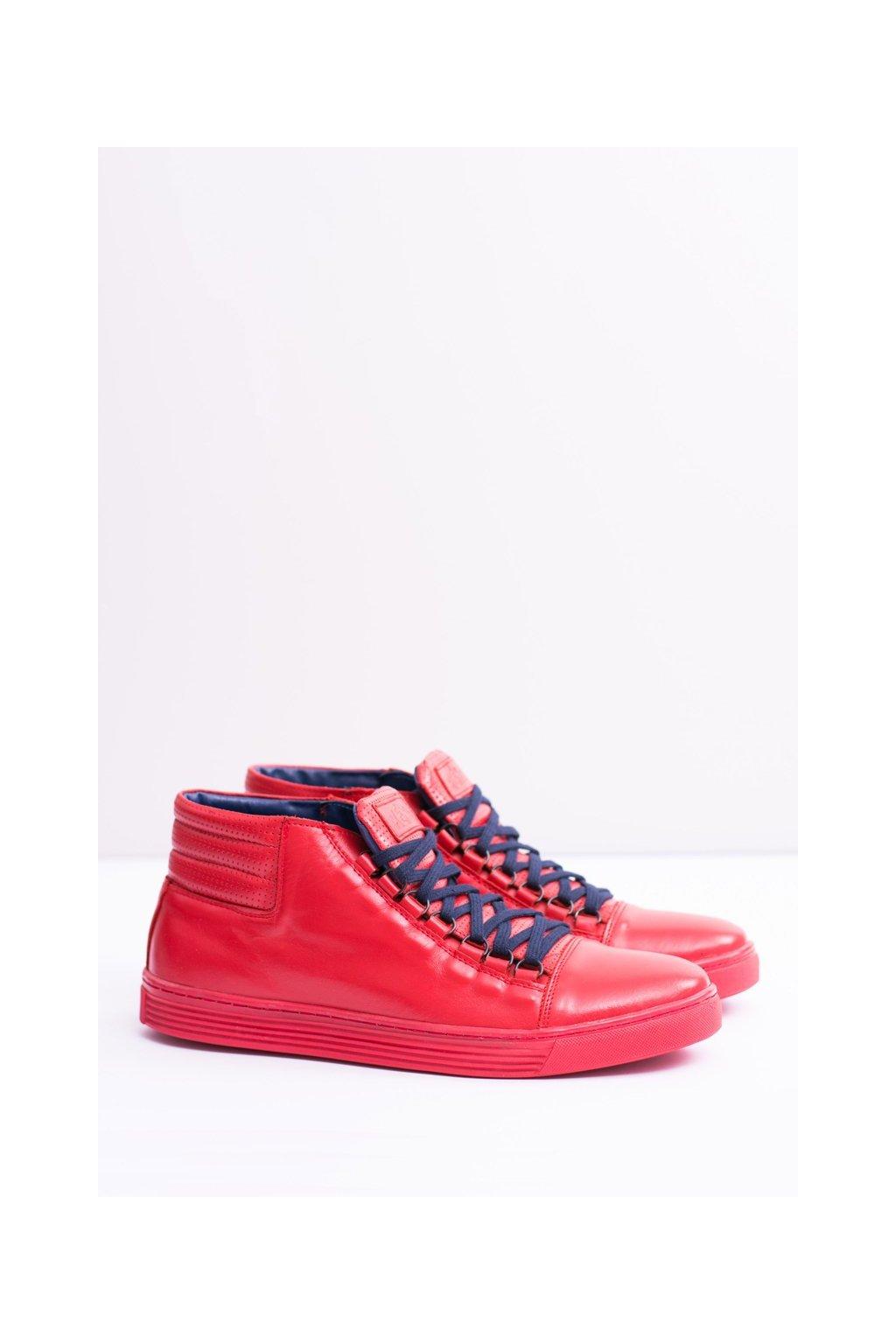 Červená obuv kód topánok 304 RED