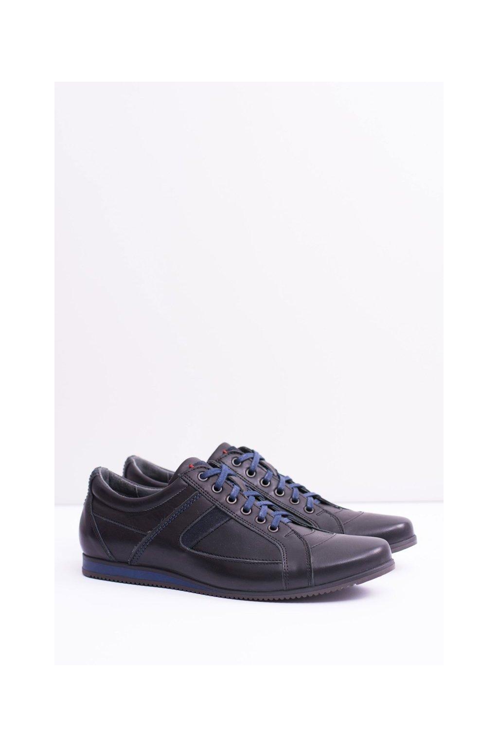 Kožené pánske športová poltopánky topánky Sferis čierne