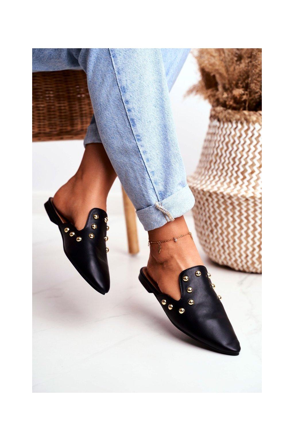 Dámske šľapky farba čierna kód obuvi 978-A3 BLK