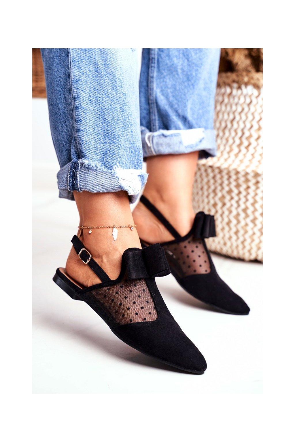 Dámske balerínky farba čierna kód obuvi 978-21 BLACK