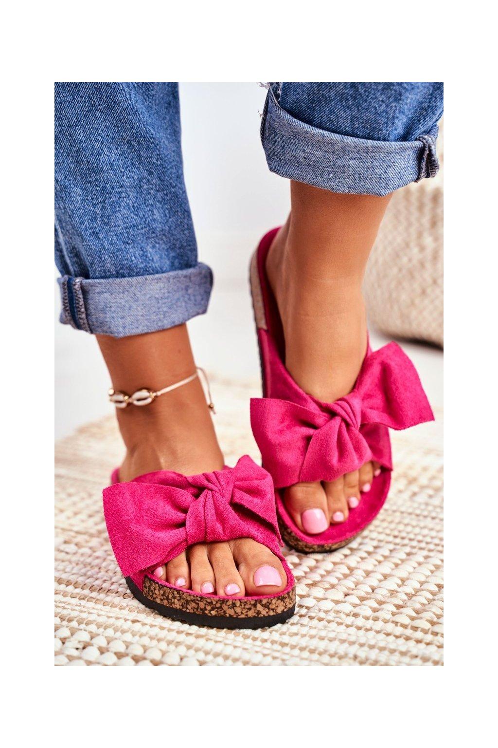 Dámske šľapky farba ružová kód obuvi CK02P FUCHSIA
