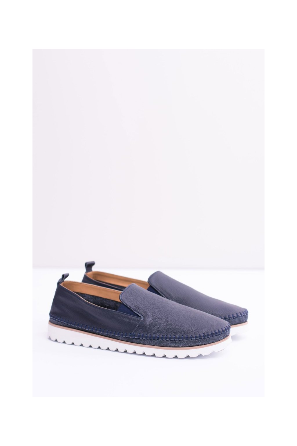 Pánske poltopánky farba modrá kód obuvi SC1C NIEBIESKI
