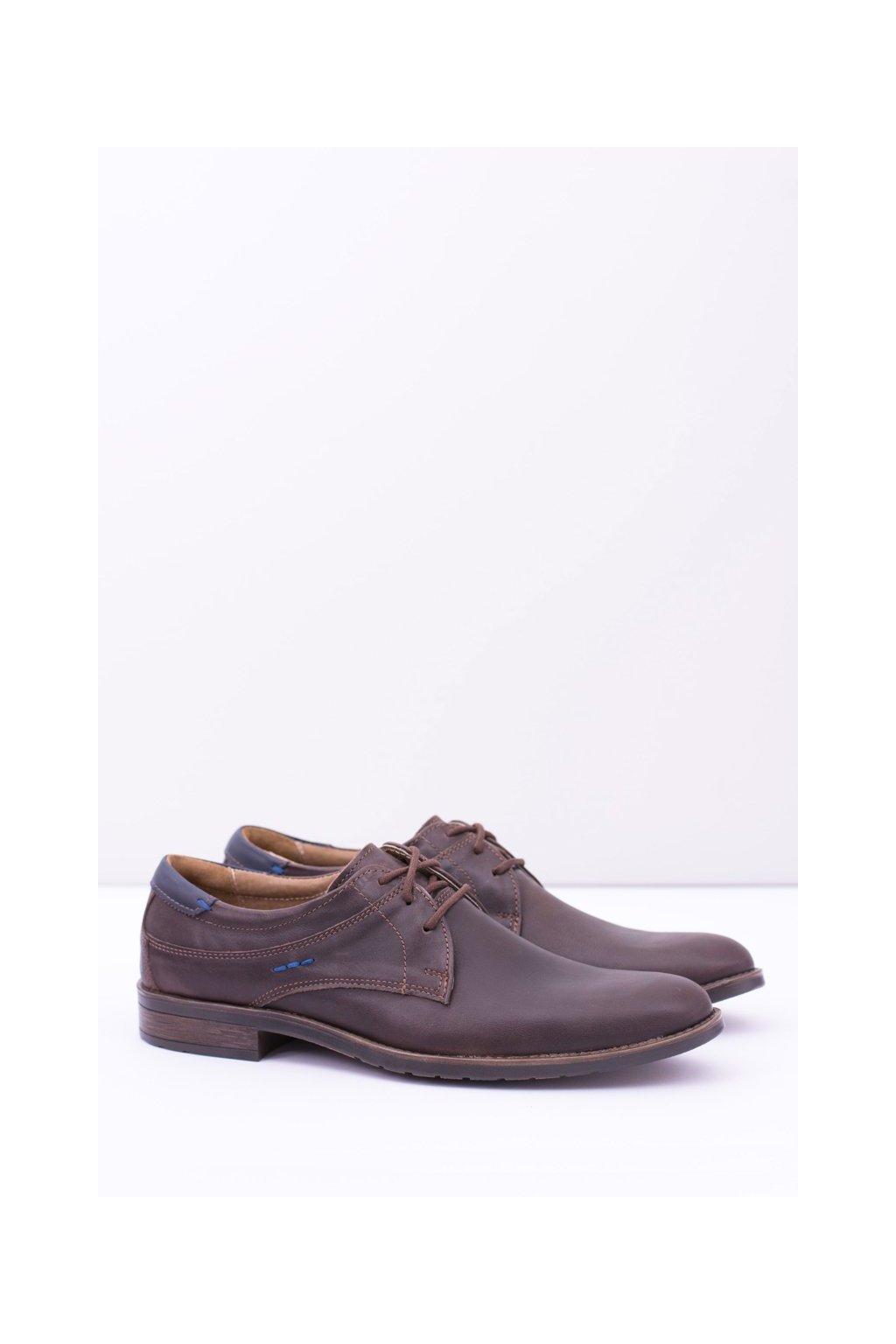 Pánske poltopánky farba hnedá kód obuvi 877 BROWN
