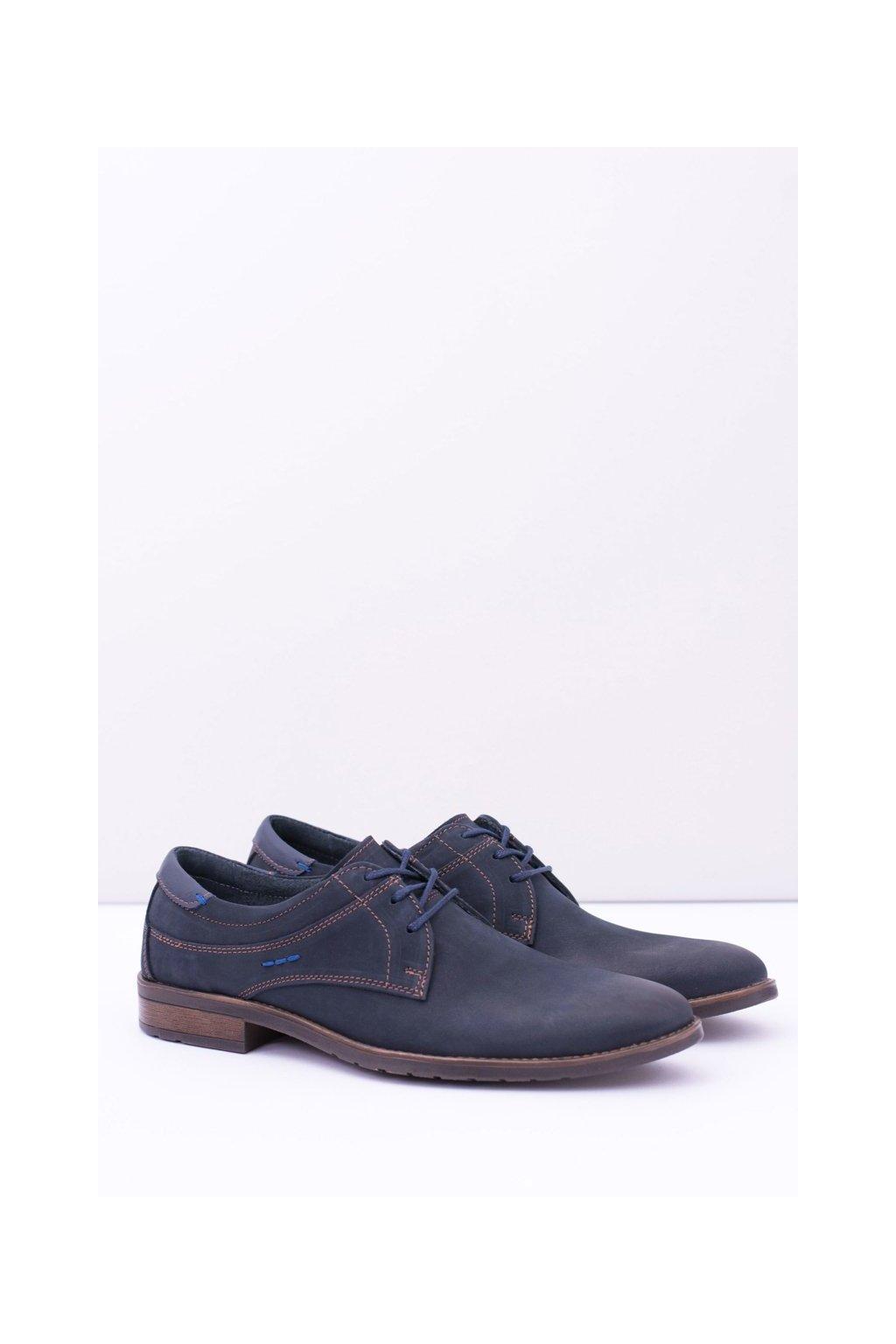 Pánske poltopánky farba modrá kód obuvi 877 NAVY