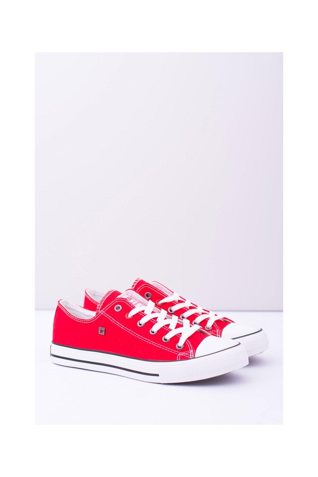 B. Star nízke pánske červené tenisky T174110