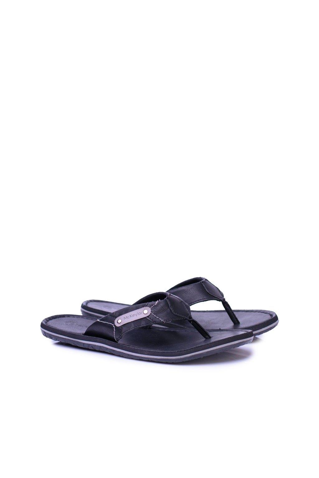 Pánske žabky farba čierna kód obuvi REF18-9741 BLK