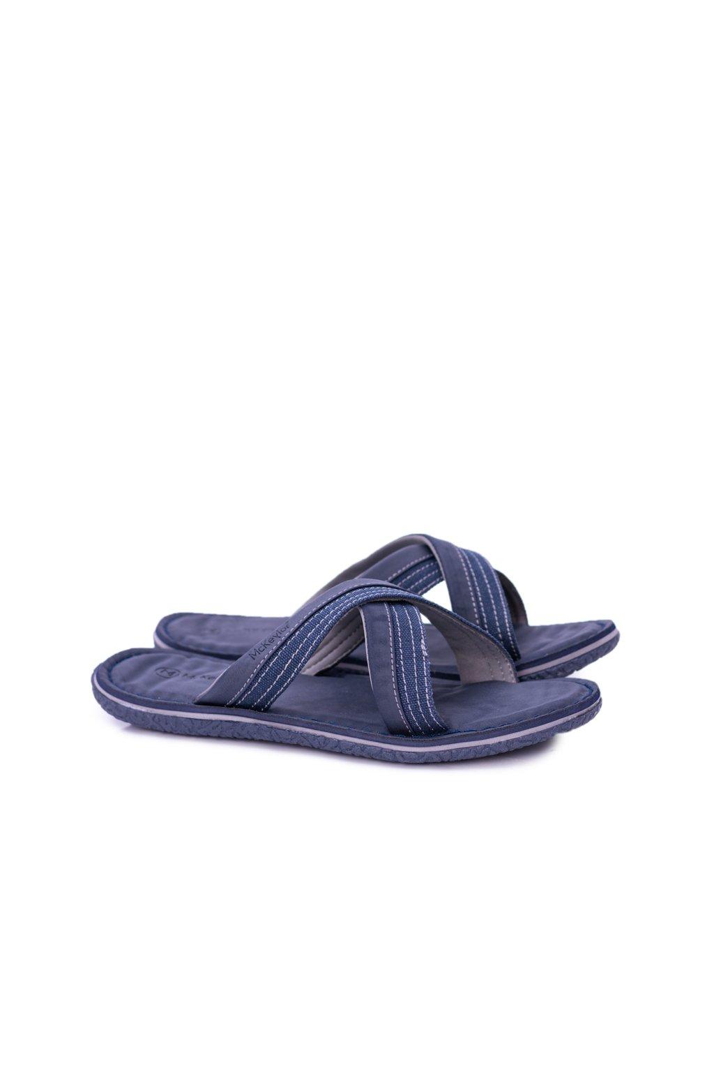 Námornícka modré ľahké papuče Kenji
