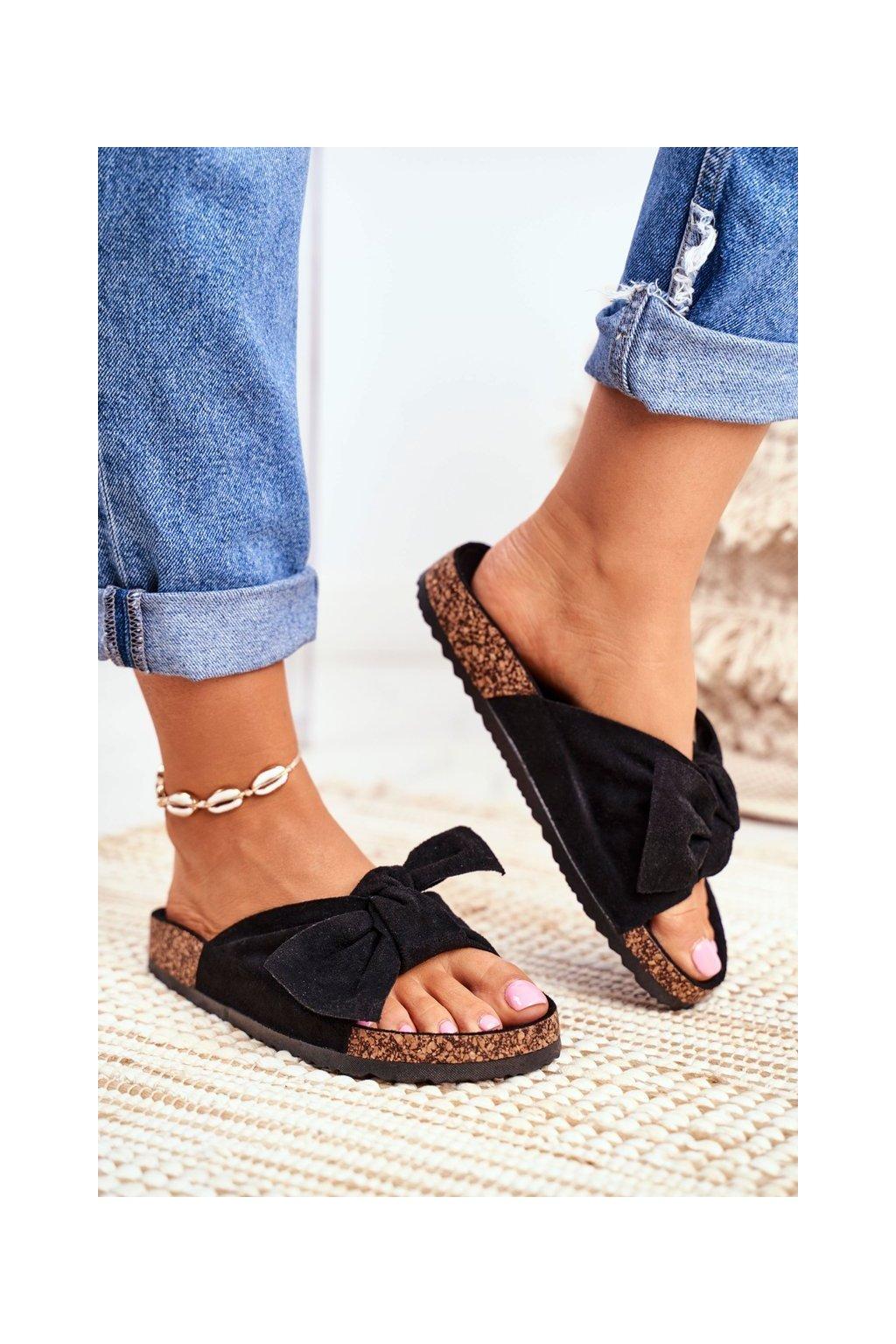 Dámske šľapky farba čierna kód obuvi CK02 ALL BLACK