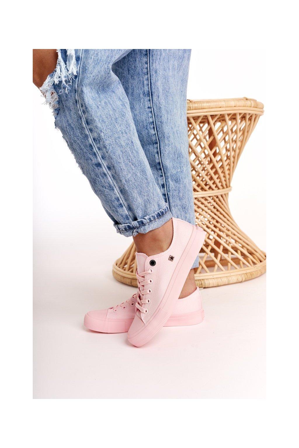 Dámske tenisky farba ružová kód obuvi AA274028 PINK