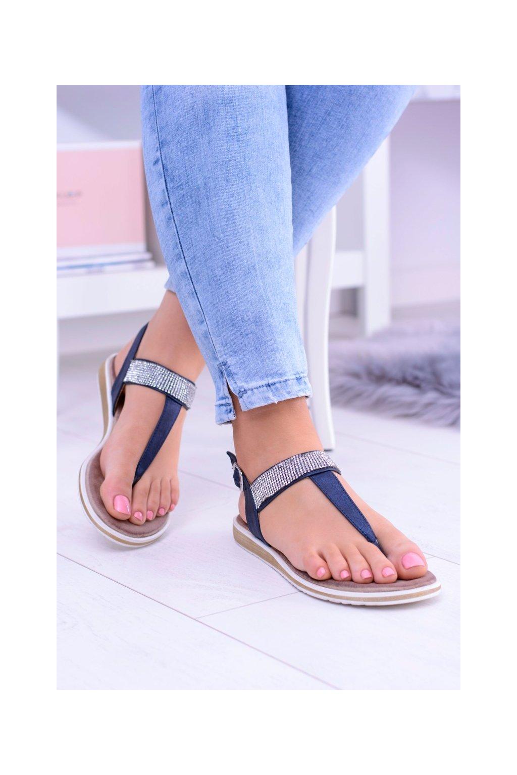 Dámske tmavo modré sandále Vamos