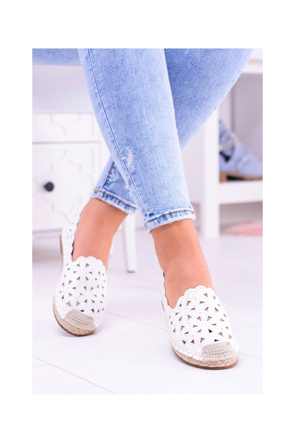 Dámske espadrilky farba biela kód obuvi 2018-B6 WHITE