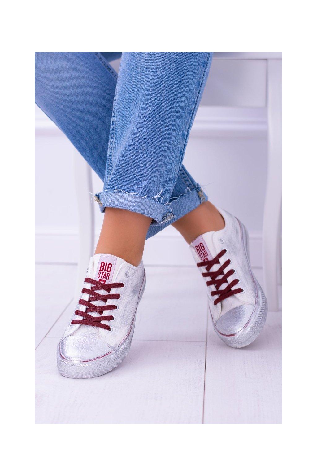 Dámske tenisky farba biela kód obuvi BB274014 WHITE