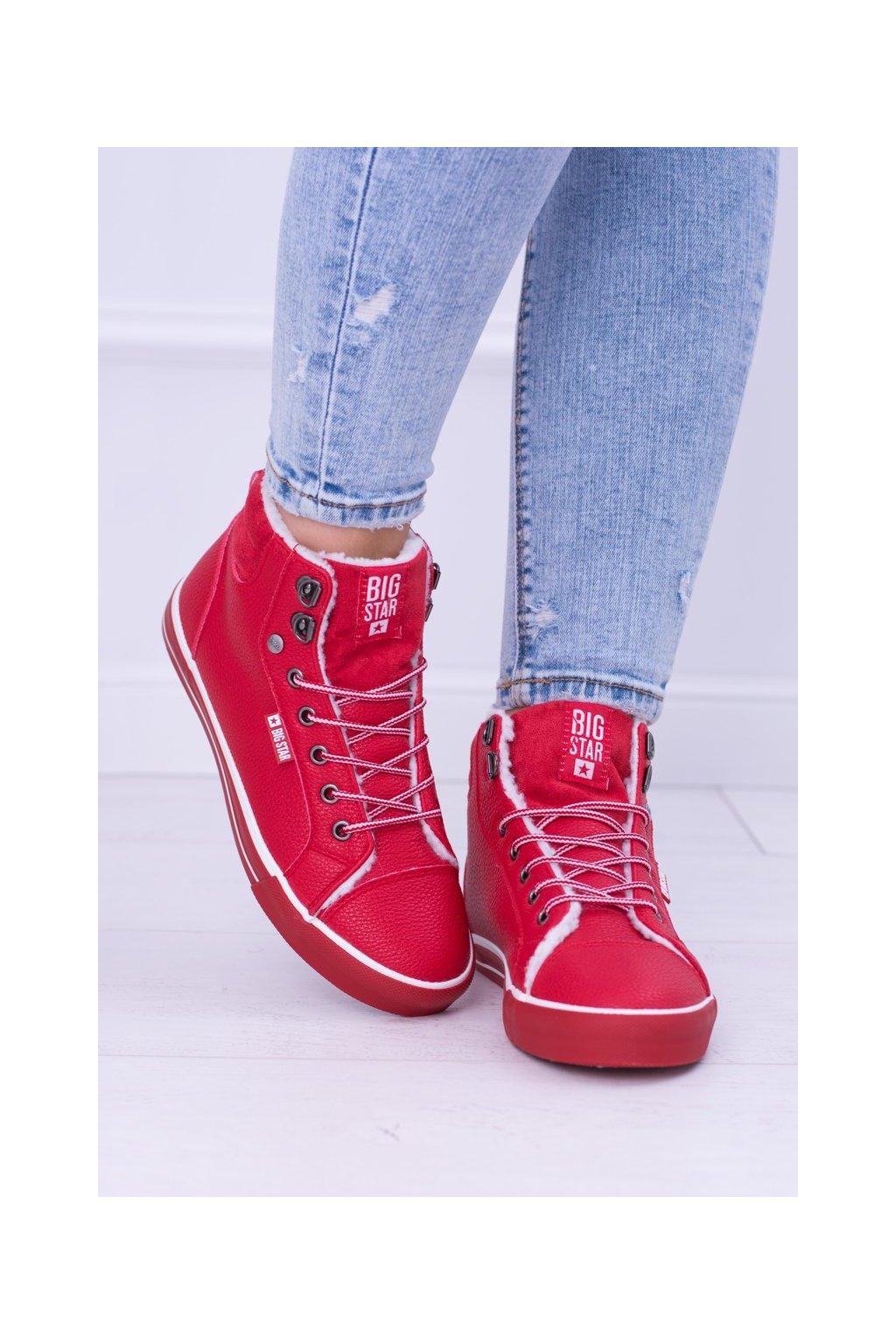 Dámske tenisky farba červená kód obuvi BB274003 RED