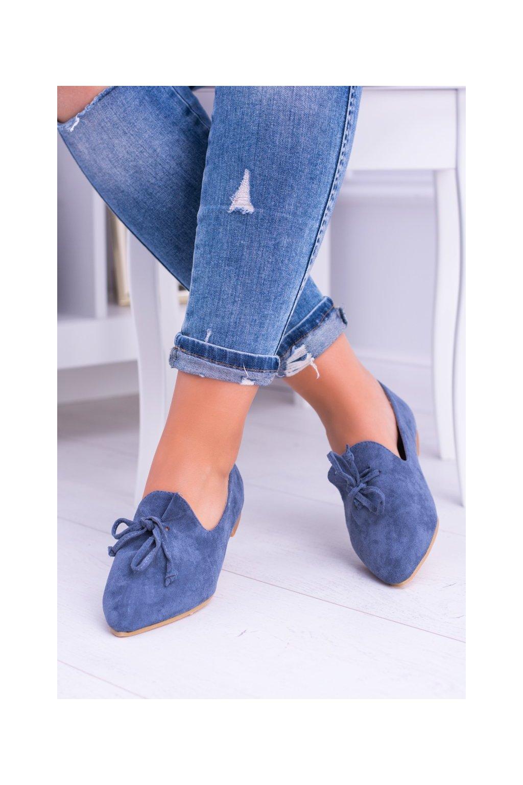 Dámske balerínky farba modrá kód obuvi 978-A8 BLUE