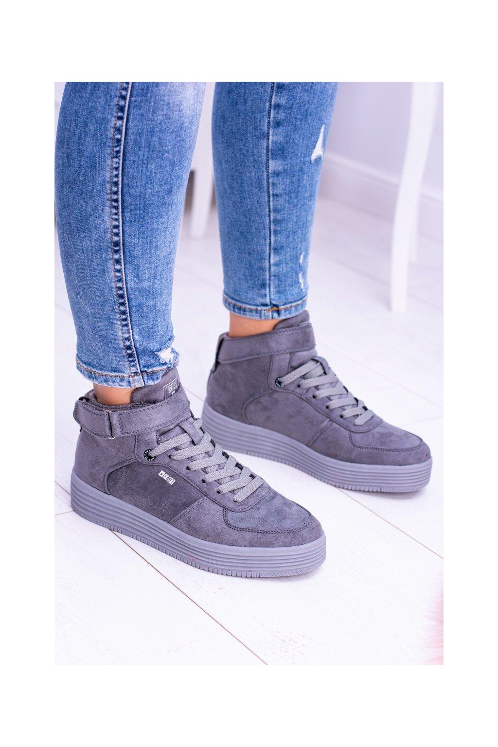 Dámske tenisky farba sivá kód obuvi BB274645 GREY