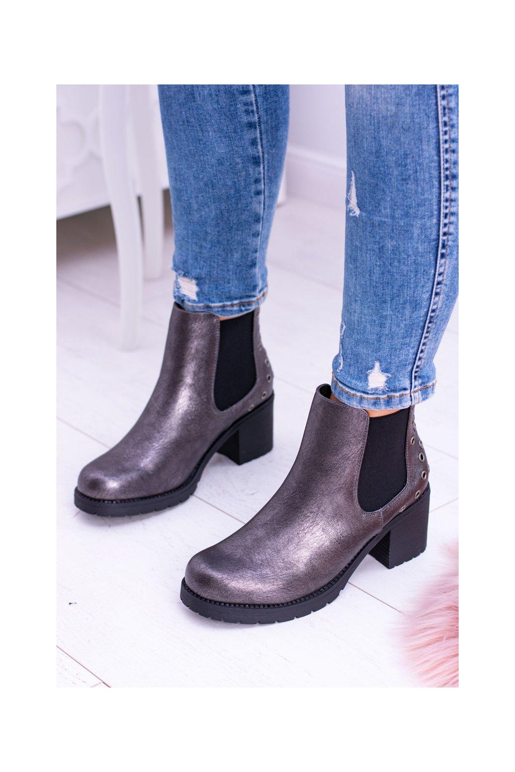 Tmavé sivé topánky Megusto Sergio Leone