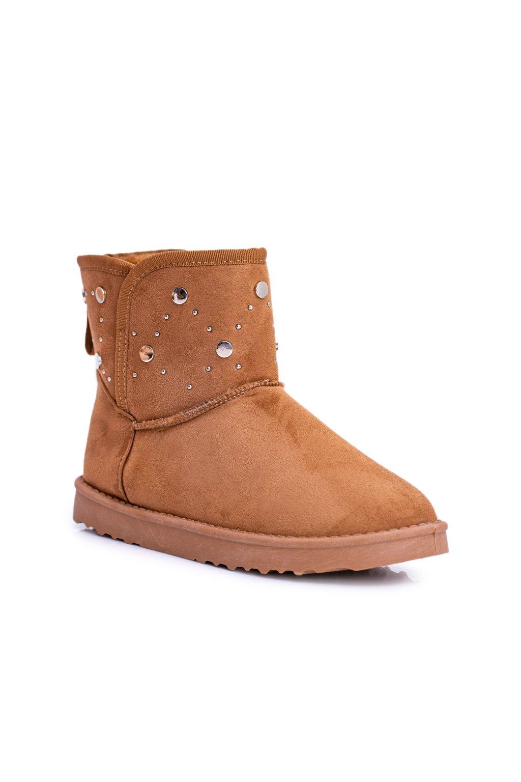 Dámske teplé snehule Semišové topánky ťavia B.gy