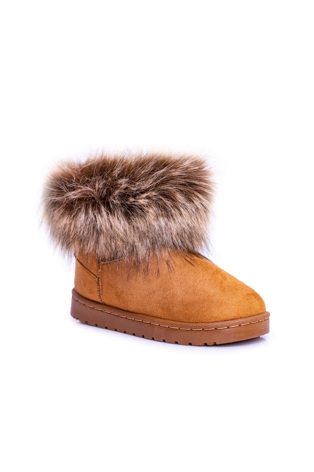 Dámske členkové topánky snehule s kožušinou ťavia Small Fox