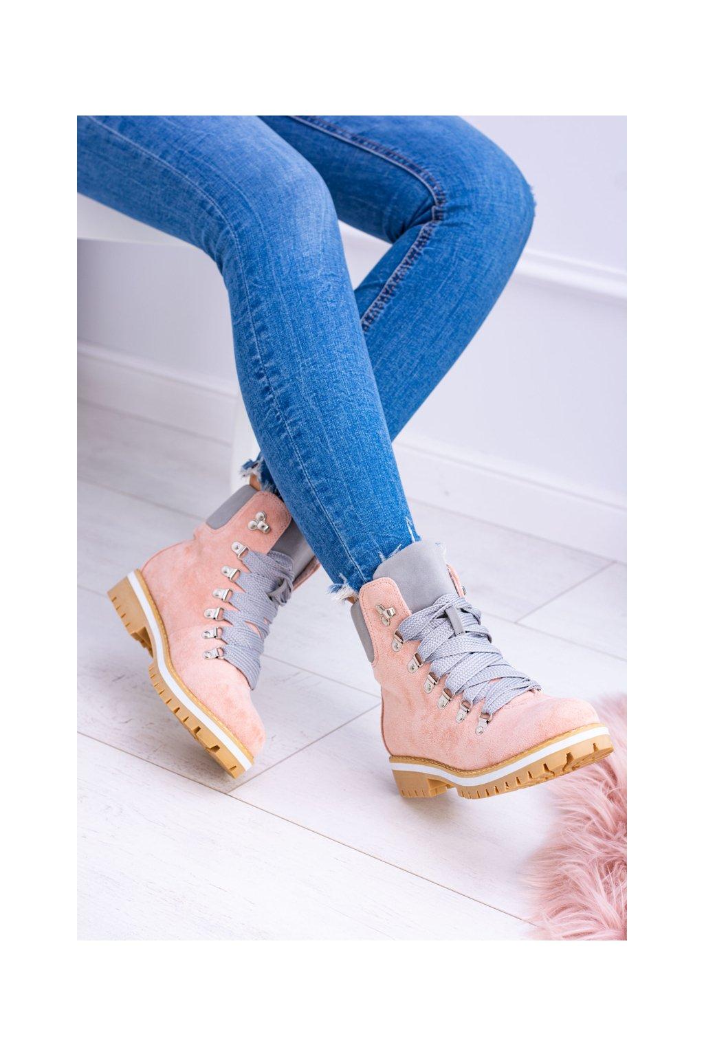 Ružové Dámske členkové topánky Vices K2