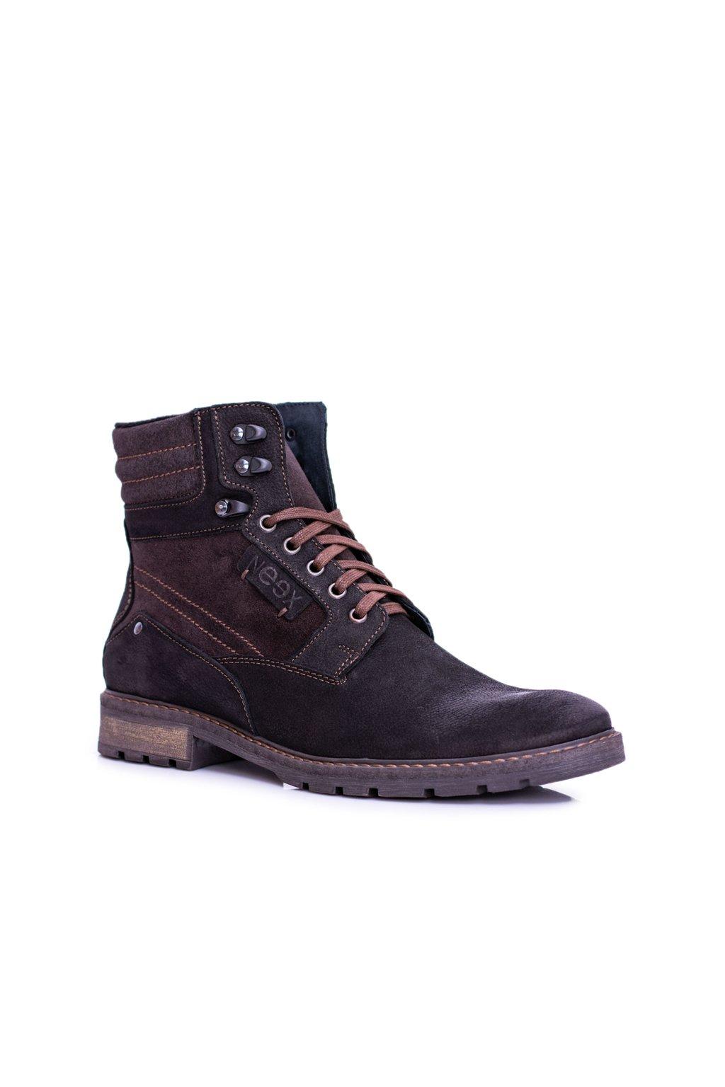 Pánske topánky na zimu farba čierna kód obuvi 297F BLK FLOTER