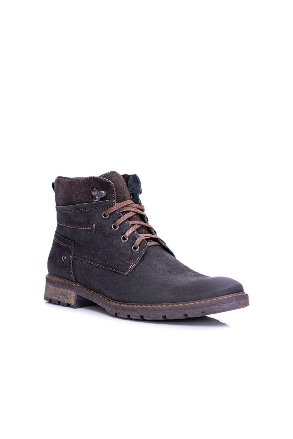 Čierne kožené panské hrejivé vysoké topánky Neex Kobe