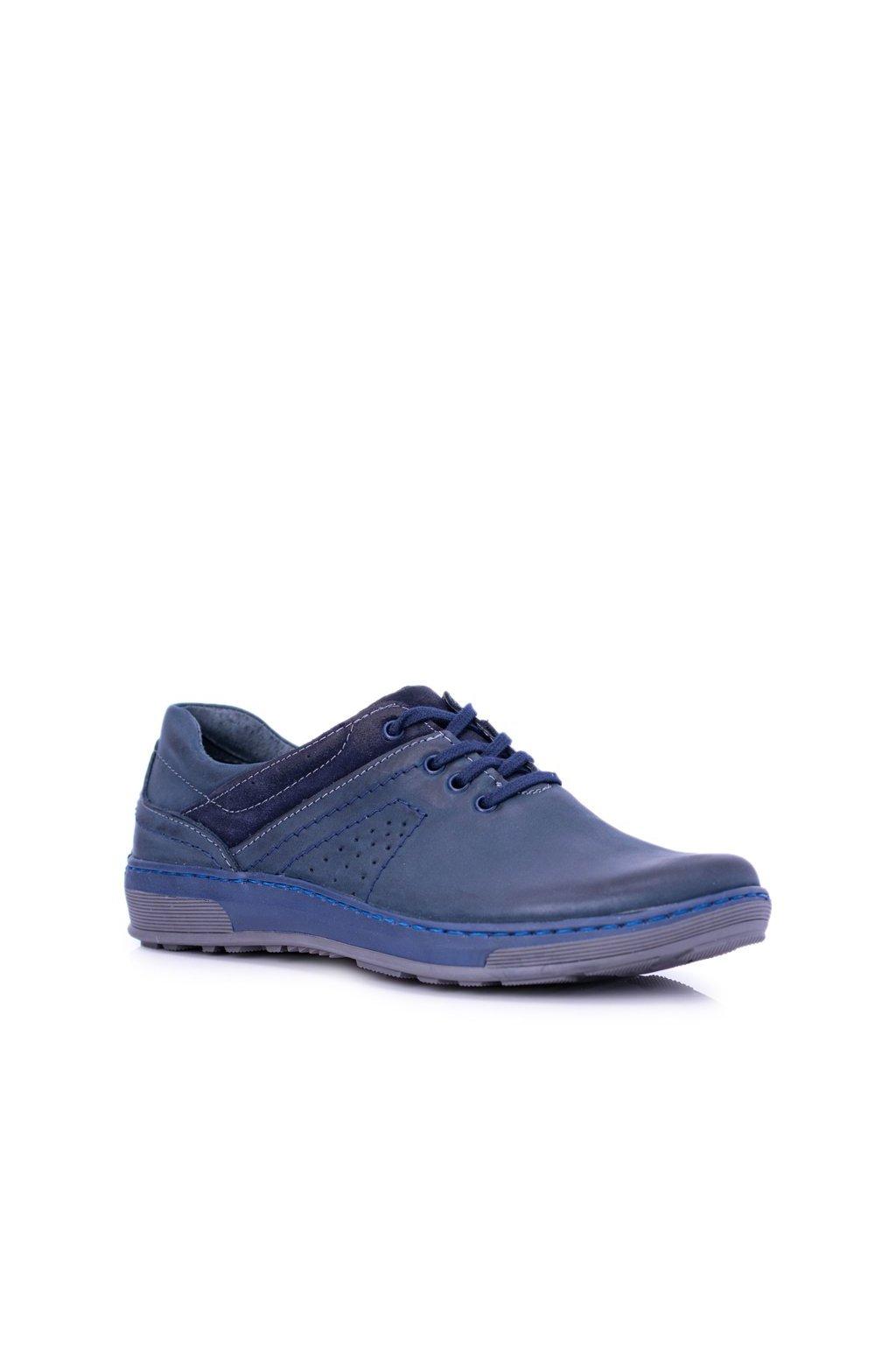 Pánske poltopánky farba modrá kód obuvi 878 GRANAT 9